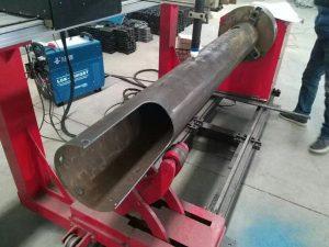 Rotacianta Ŝafo CNC-Cirkla Tubo Malalta Kosto CNC-Plasma Tranĉmaŝino